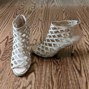 Sole Society cage open toe booties